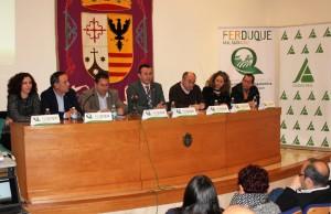 presentación FERDUQUE en Malagón, alcaldes