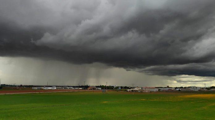 tormenta en La Mancha