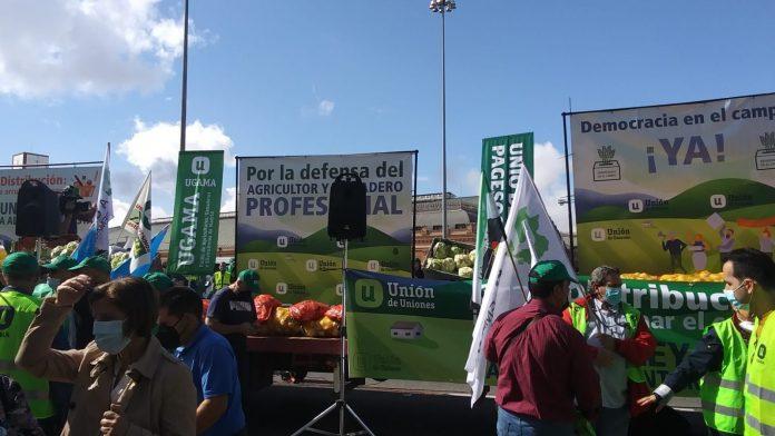 Manifestación Unión de Uniones